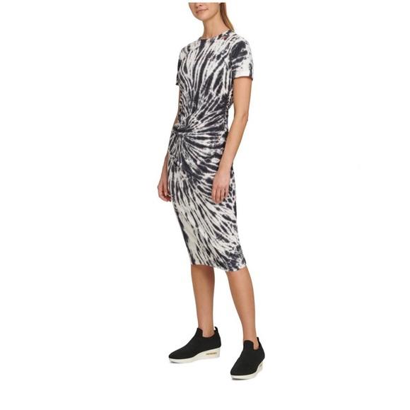 Dkny Dresses & Skirts - NWT DKNY TIE-DYE RUCHED T-SHIRT DRESS